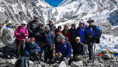 Everest Base Camp:  All of the team at Base Camp.