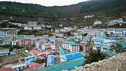 Namche Bazaar, Nepal: The town is a major hub of activity in the Everest region and even has an ATM machine!