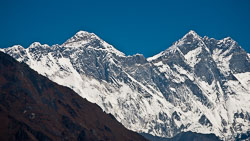 View of Everest from the trail.
