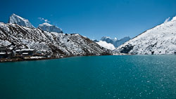 Gokyo Lake, Nepal: We camped at this peaceful lake for two days after crossing the  Renjo La.