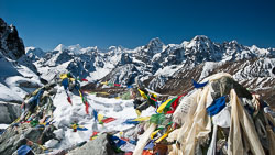 Looking west from the Cho La, Nepal.