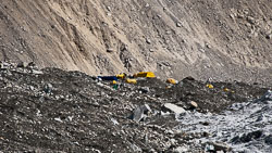 Expedition tents at Everest Base Camp.